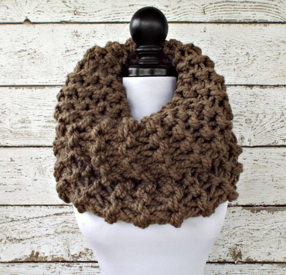 Instant Download Knitting Pattern Knit Cowl Circle Scarf Etsy