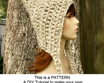 Instant Download Crochet Pattern - Crochet Hat Pattern Crochet Signature Pixie Hat - Crochet Pixie Hat Pattern Womens Accessories