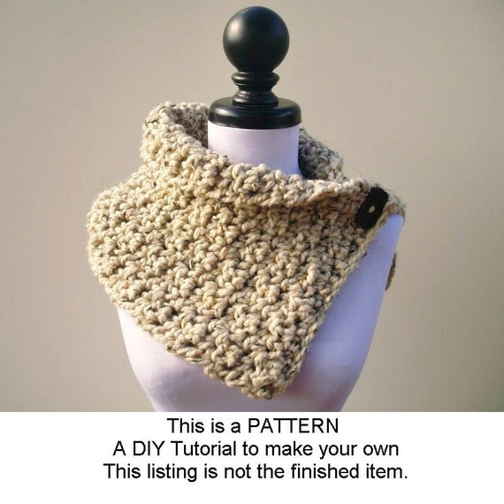 Instant Download Crochet PATTERN PDF - Crochet Cowl Scarf - Lucienne Cowl - Womens Cowl Pattern Crochet Cowl Pattern Womens Accessories