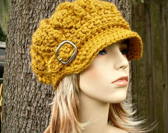 Instant Download Crochet Pattern - Hat Crochet Pattern - Crochet Hat Pattern Oversized Monarch Newsboy Beret - Womens Hat Womens Accessories
