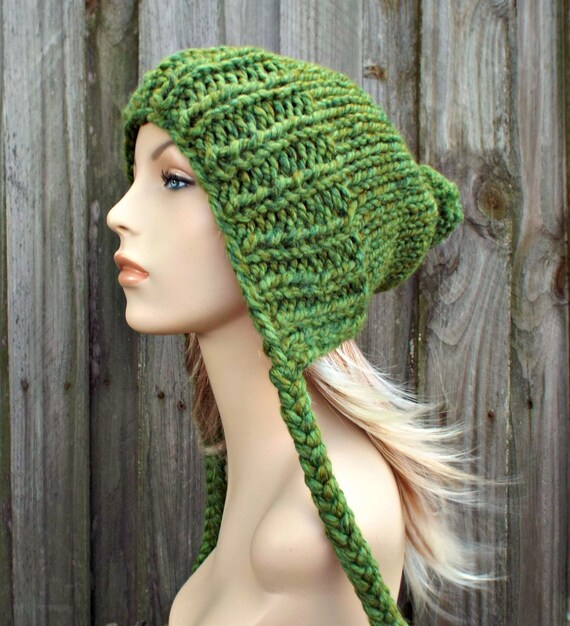 db5df2ab83b Green Slouchy Hat Womens Hat Green Hat Green Beanie Green