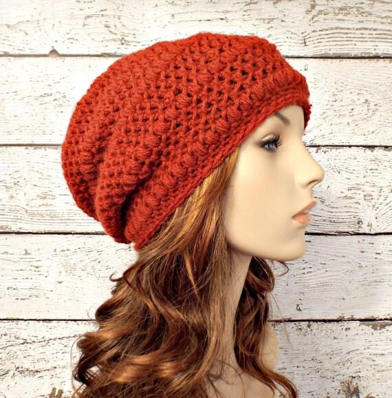 ffec865b8b7 Crochet Hat Womens Hat Orange Hat Penelope Puff Stitch