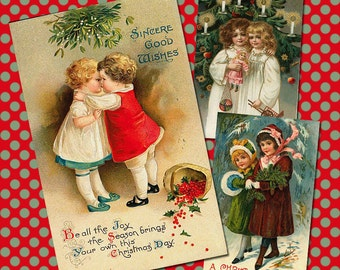 Vintage Christmas Collage Sheet 1
