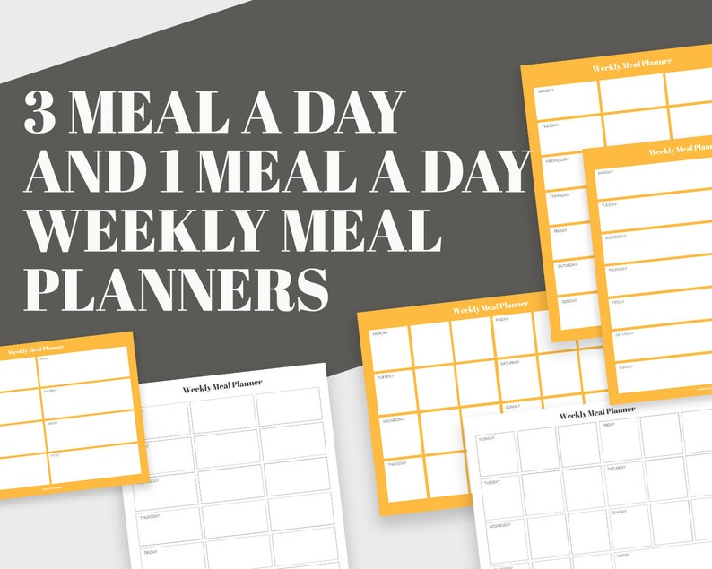 image about Day Planners referred to as 3 Evening meal a Working day Evening meal Planners + 1 Dinner a Working day Planners (Massive Package deal)