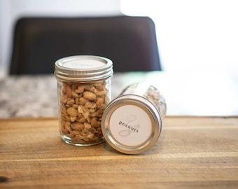 Nut Jar Labels • Circle • Custom Sizes • Water & Oil Durable