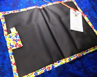 Chalkboard Mat / Large / Colorful ABCs