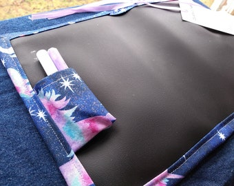 Chalkboard Mat / Small / Sparkling Unicorns