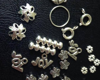 26-pc Charms Spacer Beads and Clasps