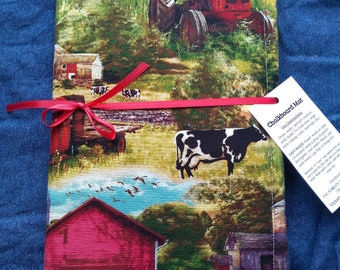 Chalkboard Play Mat / Large / Red Barn and Tractors