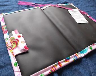 Chalkboard Play Mat / Large / Colorful Candy Swirls