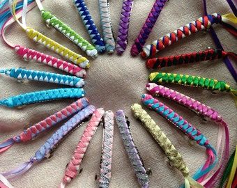 Ribbon Barrettes / Party Pack of 6 / YOUR CHOICE of color combinations