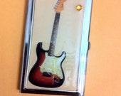 Vintage Fender Electric GUITAR Business Card Holder Credit Card Case