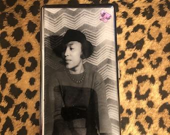 Zora Neale Hurston Mirror Tissues  Business Credit Card Money Holder Cigarette Case