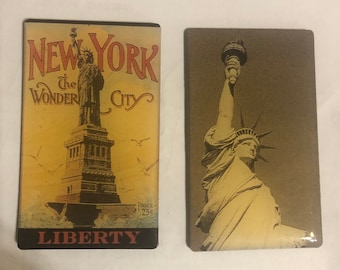 Two (2) Vintage New York City Magnets -- for fridge and other metal surfaces!
