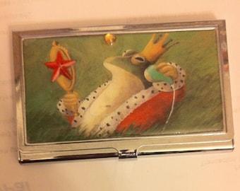 Retro Royal Frog Business Card Holder Credit Card Case