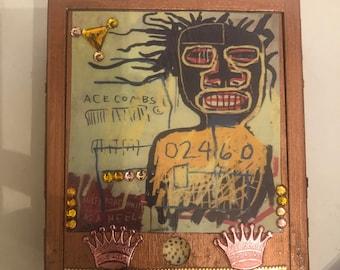 Retro Urban Graffiti Monstro Man Copper Wood Jewelry Box Keepsake Box Trinket Box
