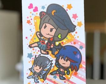 Mako + Ryuko + Satsuki Running with stars