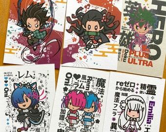 Anime (small print) set of 2