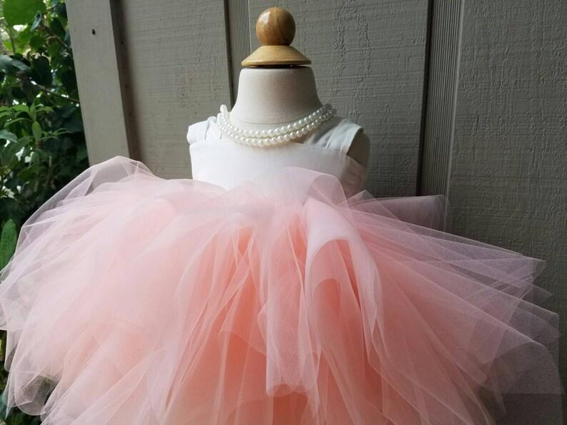 Lily Flower Girl Dress Knee Length Full tutu dress lined image 0