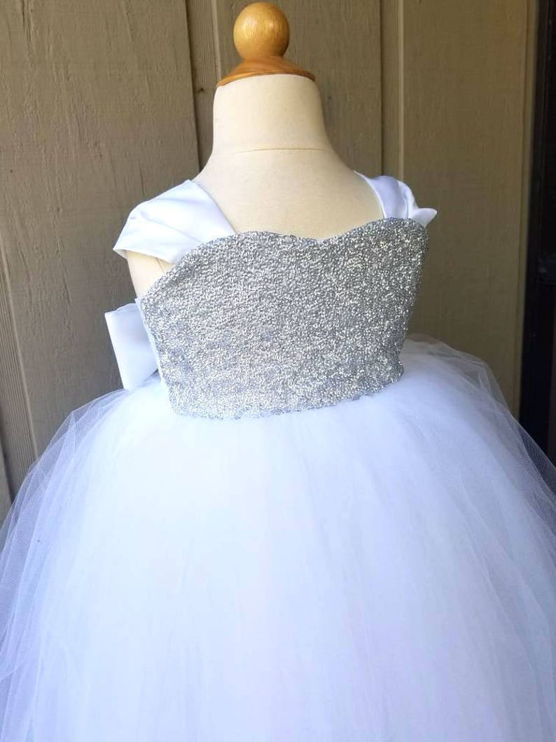 Birthday Sequin Dress Holiday Tulle Gown Weddings Flower image 0