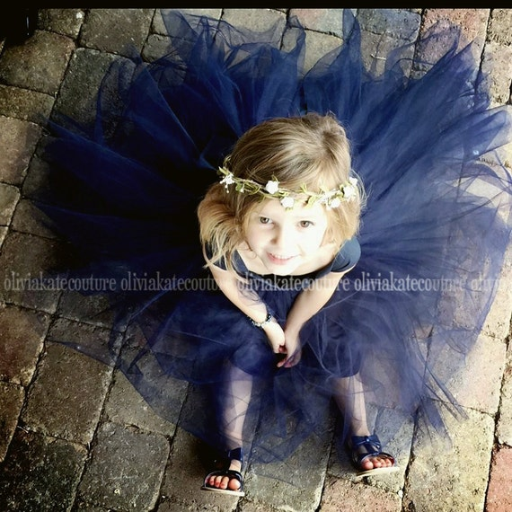 6dd0379abf Flower Girl Dress Natural Navy