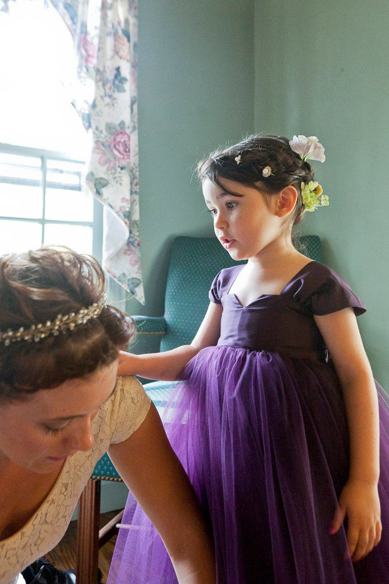 Flower Girl Dress Purple image 0