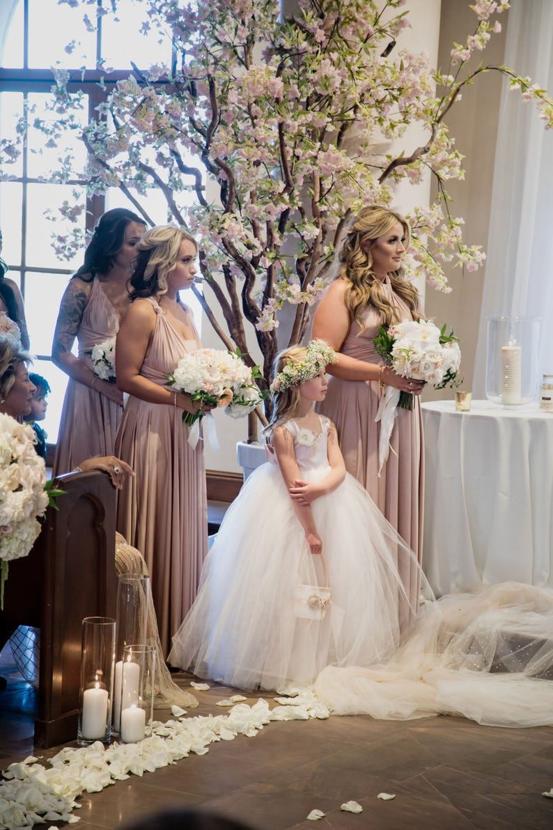 As Seen in Ceremony Magazine San Diego Blush Satin Flower image 0
