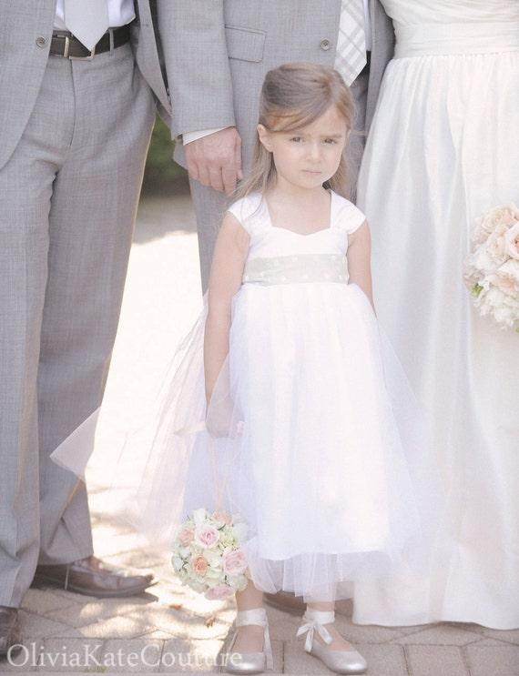 Cotton Flower Girl Dress Ivory Flower Girl Dresses Tulle Etsy