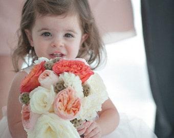 BLUSH Flower Girl Dresses, Pink Tulle Tutu Ivory White Wedding Toddler Champagne Dress, Ivory Vintage Flower Girl, Princess White Baby Dress