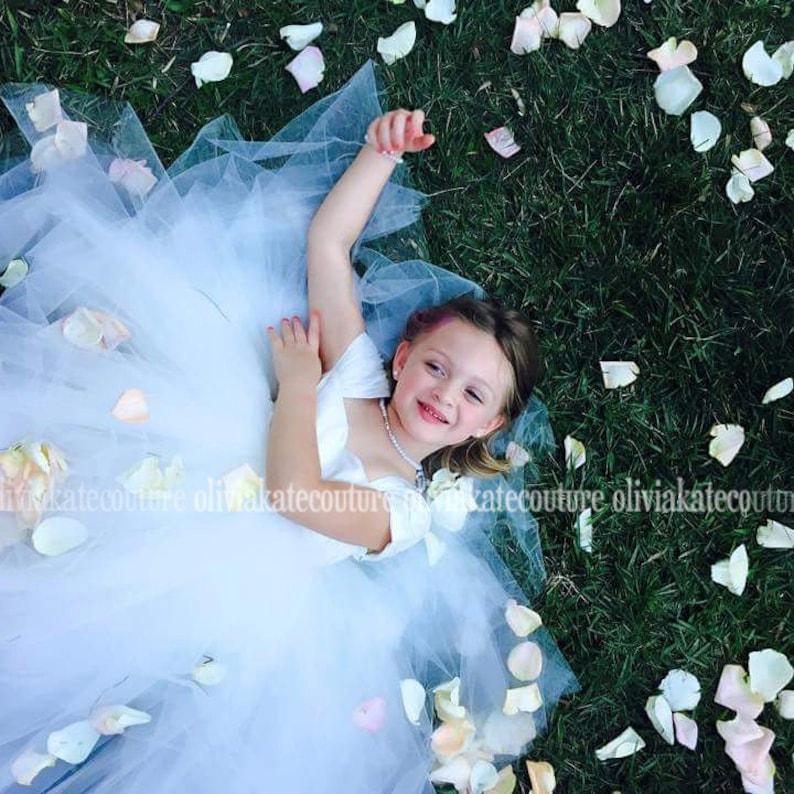 Flower Girl Dress Girls dress silk dress princess dress image 0