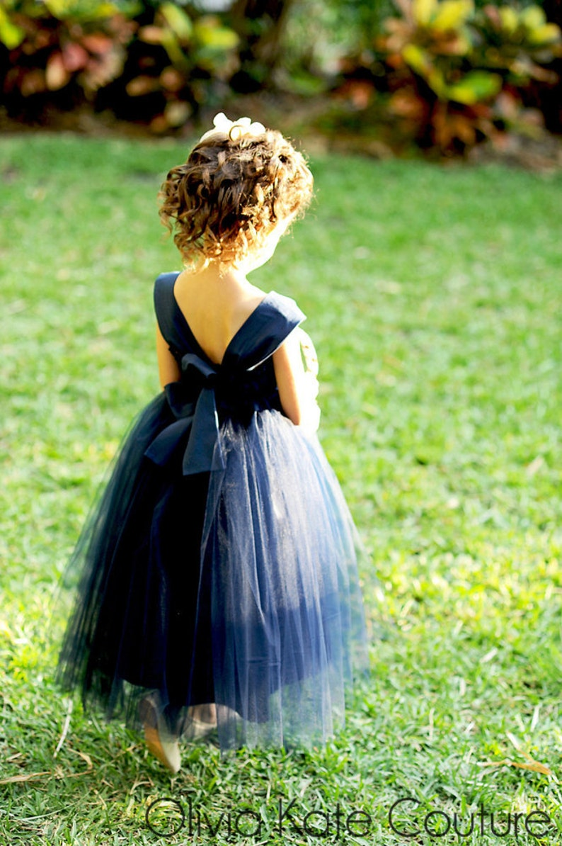 Navy Flower Girl Tulle Tutu Dresses Buzzfeed.com Toddler image 0