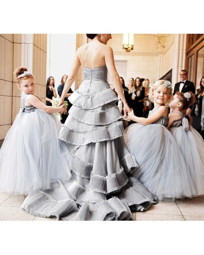 As Seen on Martha Stewart Weddings Silver Flower Girl image 0