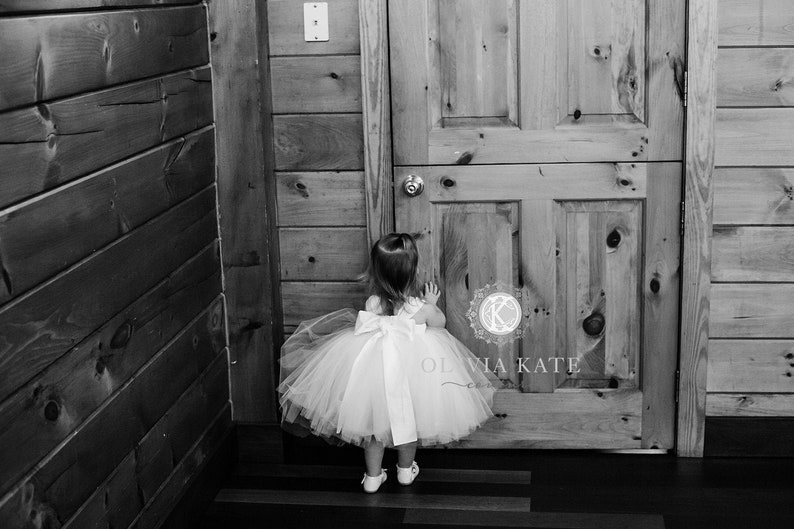 Knee Length Girls Dress  Flower Girl Dress flower girl dress image 0
