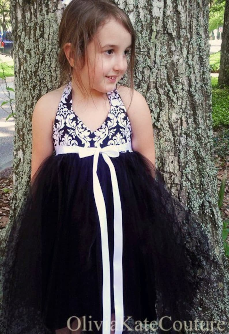 Flower Girl Dress . Damask image 0
