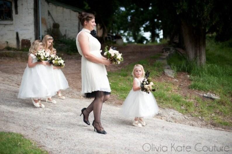 Flower Girl Toddler Flower Girl Dress Flower Girl Tutu Ivory Flower Girl Dresses Flower Girl Tulle Natural Cotton Ivory Baby Dress
