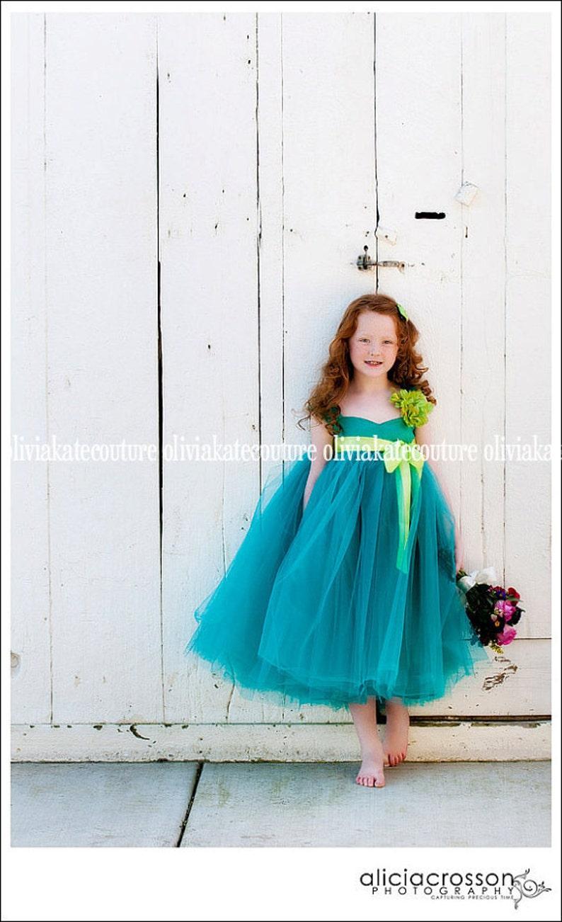 Flower Girl Dress Green image 0