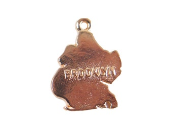 Rose Gold Plated Brooklyn New York Borough Charms (2X) (K613-D)