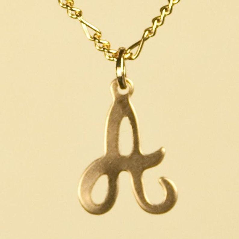 Vintage Letter Inicial Necklace A