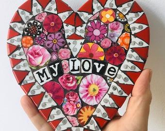 Mosaic Heart- My Love