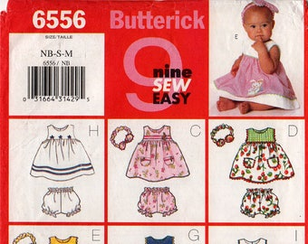 Uncut Infants' DRESS PANTIES HEADBAND Pattern Butterick #6556 Size Newborn Small Medium 9 Looks Easy Easter/Spring Baby Fashions Sewing