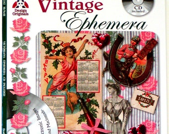 2004 VINTAGE EPHEMERA Book & CD #5242 Over 150 Victorian Images Suzanne McNeill Design Originals Collage Scrapbooking Artwork Cards Tags
