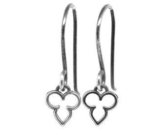 Dainty Sterling Silver Moroccan Earrings Handmade Jewelry Gift for Girlfriend Everyday Wear Simple Earrings