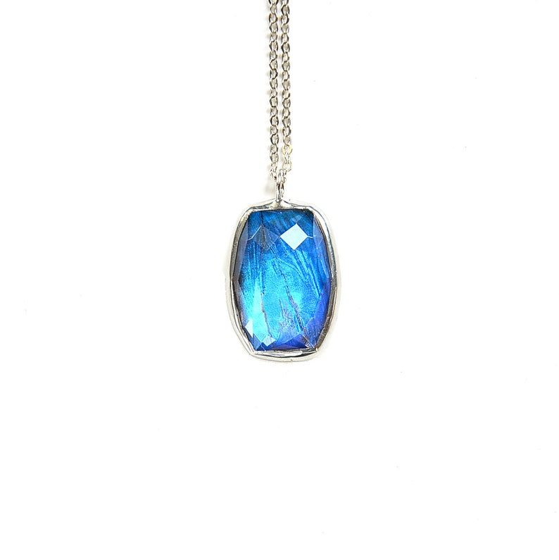 Butterfly Wing Necklace Real Blue Morpho Pendant Mother's image 0