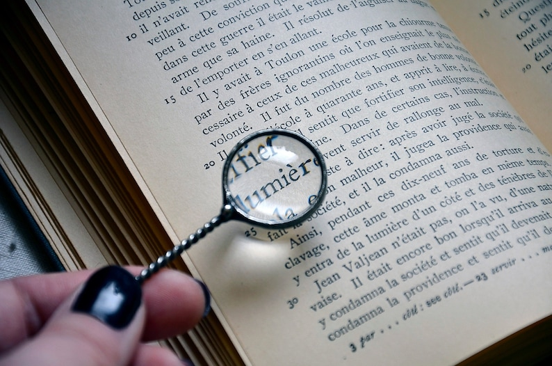 Magnifying Glass Pendant Loupe Jewelry Monocle Festival Rustic image 0