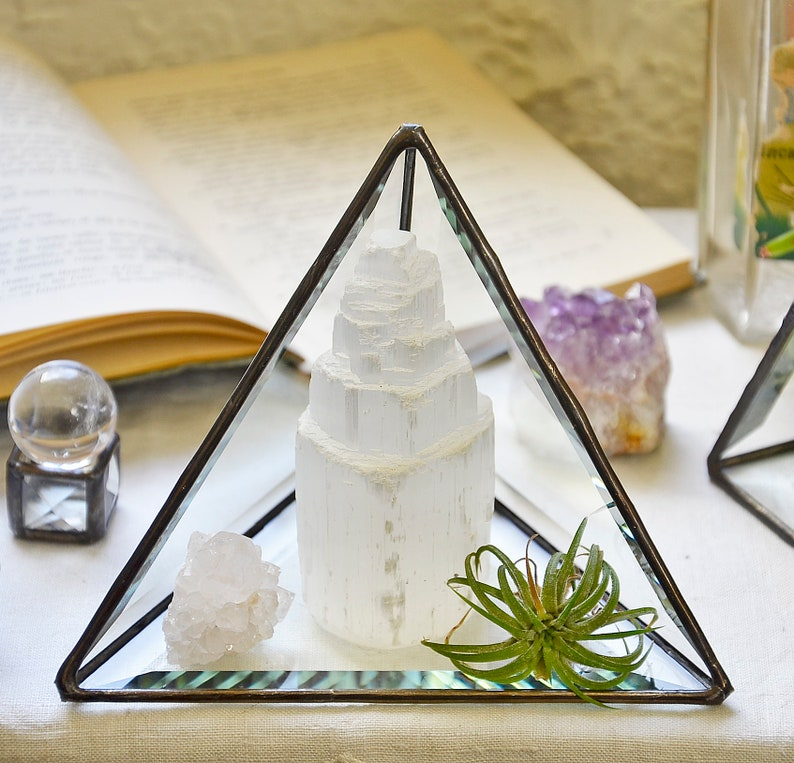 Large Pyramid Display Box. Stained Glass Pyramid Display. image 0