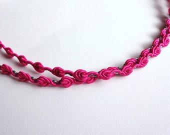 Fushia Pink Roses Baby Headband, Girl Headband