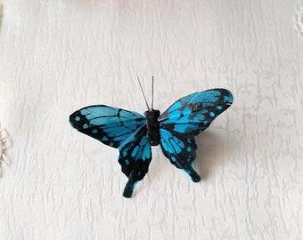 Blue Butterfly Hair Pin, Hair Clip, Woman Hair Clip, Girl Hair Clip