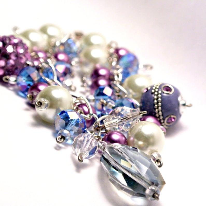Frozen inspired Cha-Cha Bracelet Purple Charm Bracelet 7 or 8 image 0