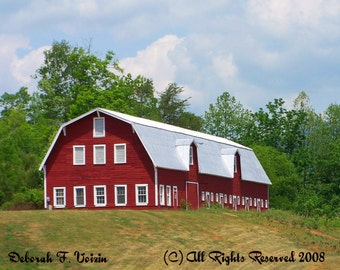 Red Barn upon the Hill