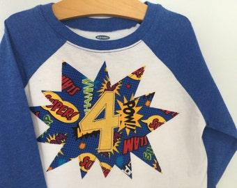 Super Hero BIRTHDAY Shirt